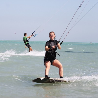 kitesurfing girl in El Gouna Egypt