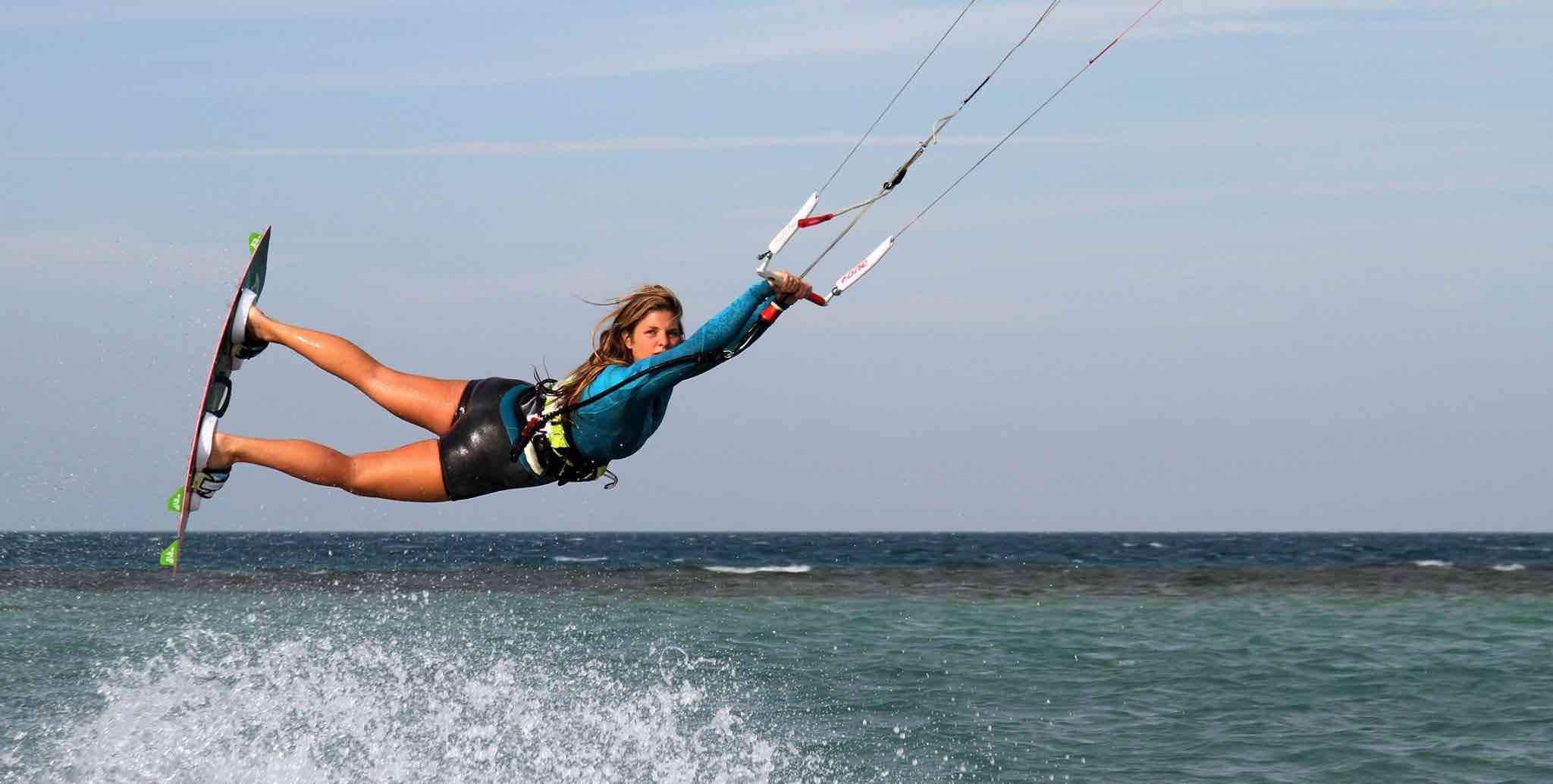 kitesurfing girl kitesurfing lessons event week