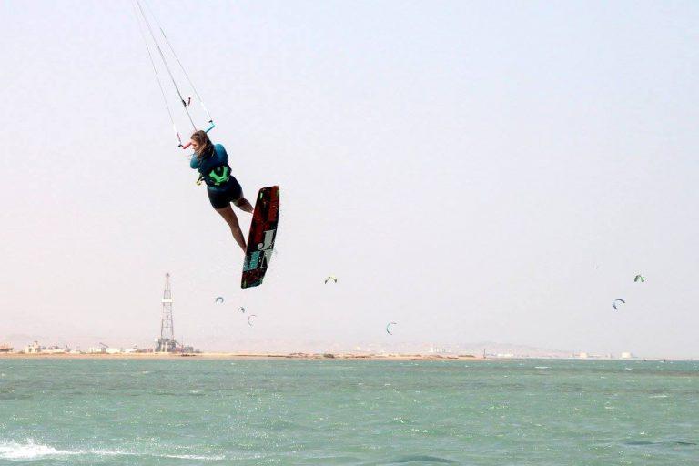 kite girl for kitesurf event week egypt