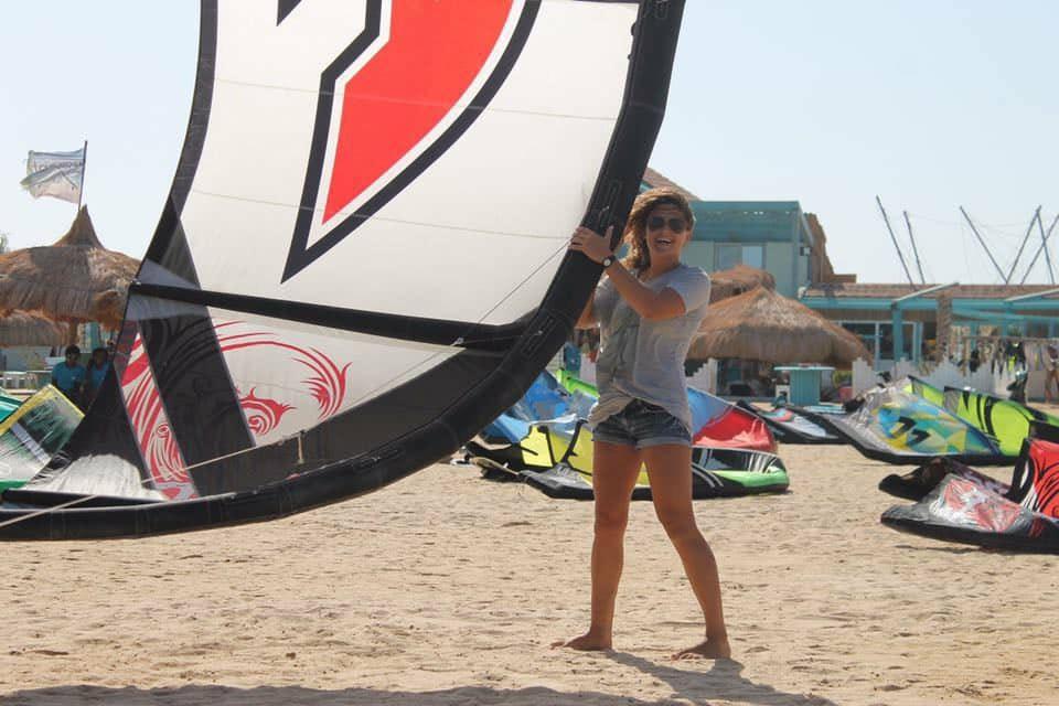 kite girl kitesurfing event week  kite tribe