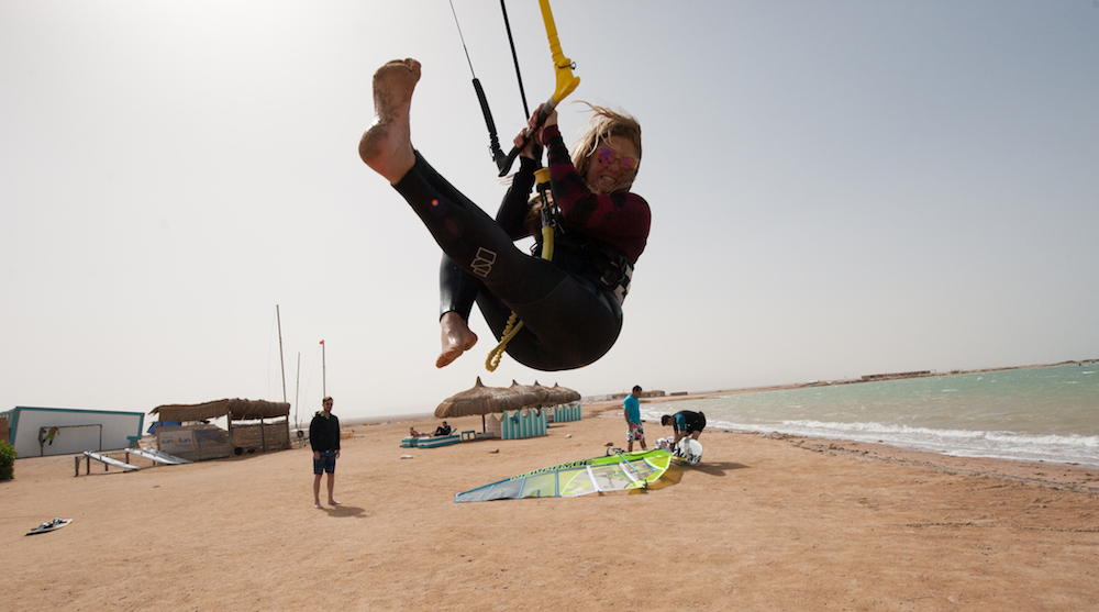 kite girl at el gouna kitesurfing