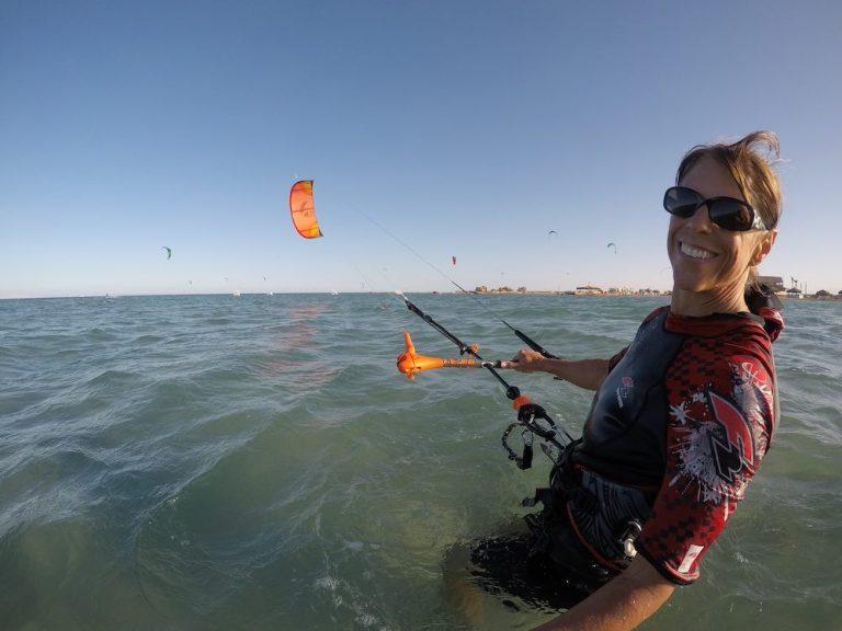 join kite girl at kitesurfing events week el gouna egypt