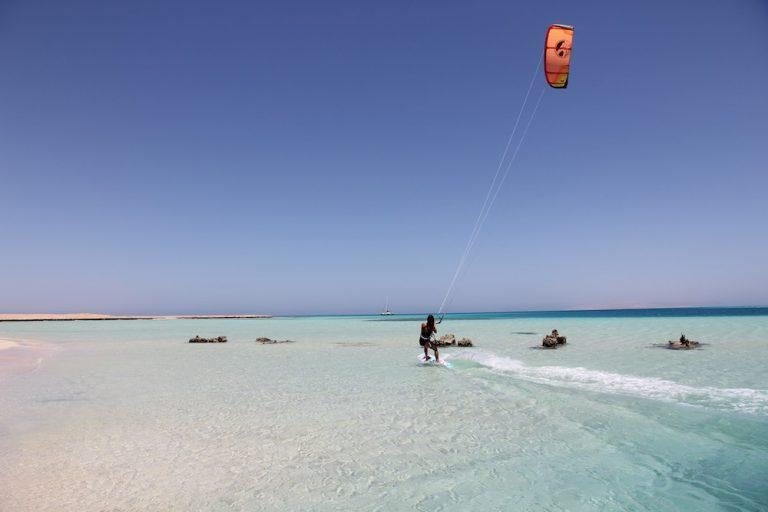 kitesurfing girl at el gouna egypt kite events