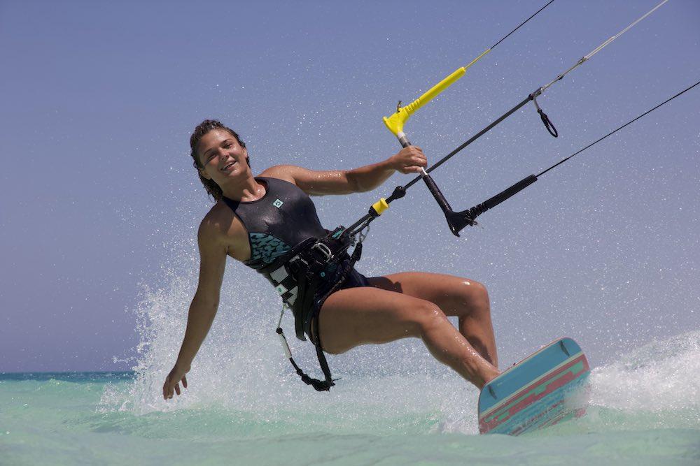 kite girl at el gouna kitesurfing kite tribe events