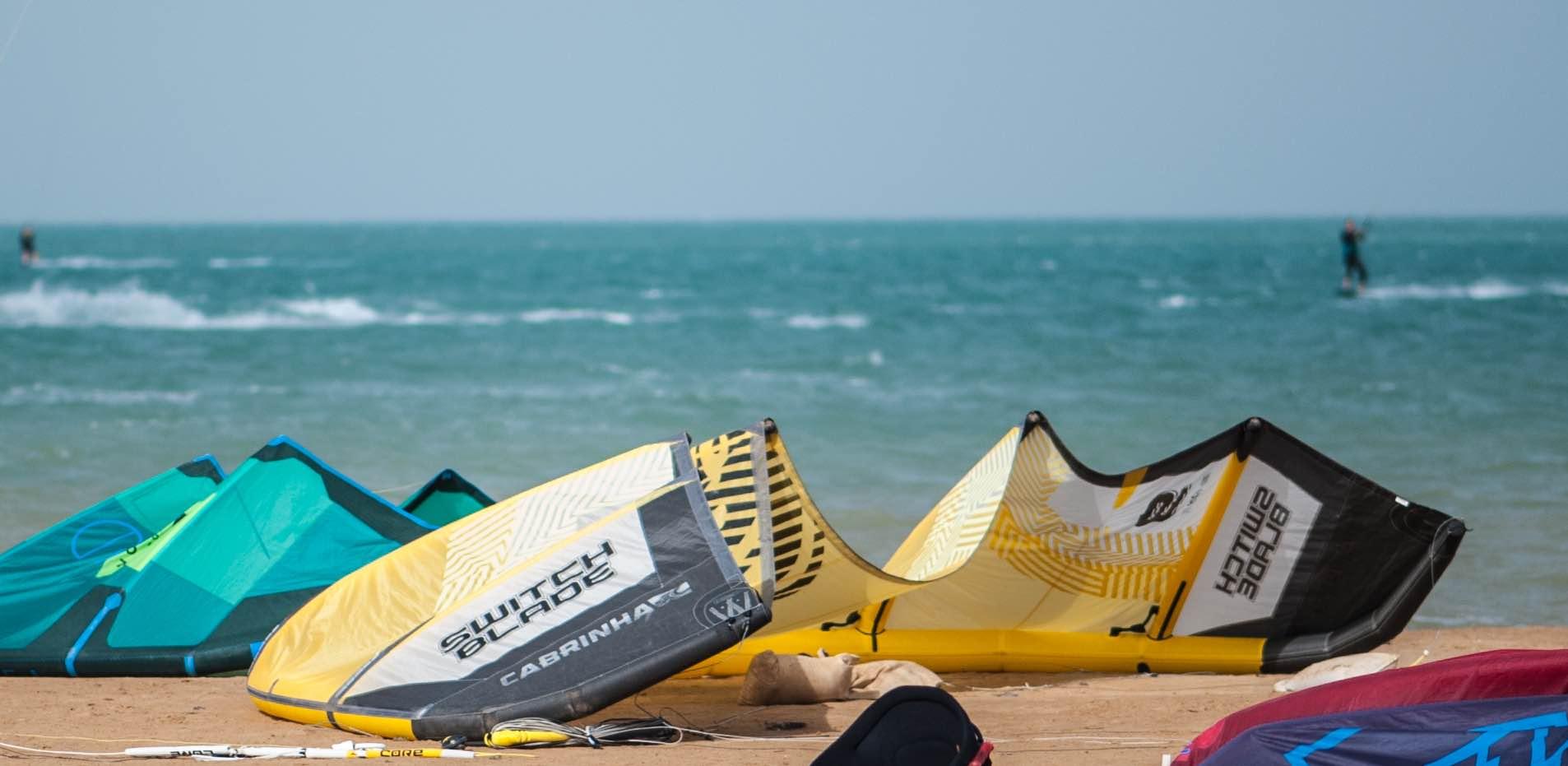Kiteboarding El Gouna with big kitesurfing areas