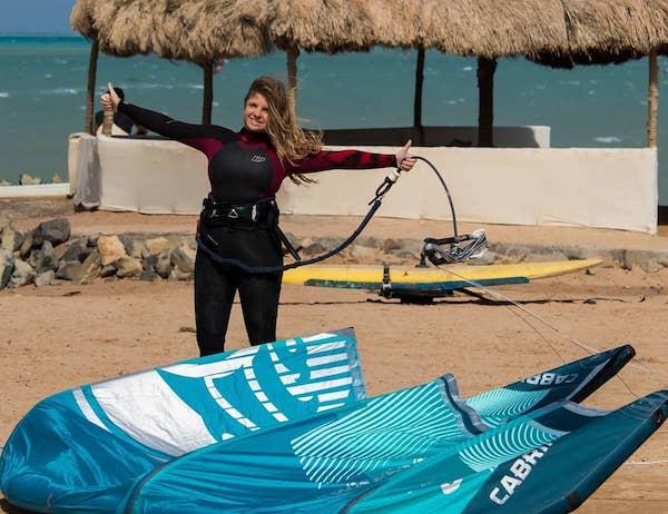 kite girl camp el gouna egypt