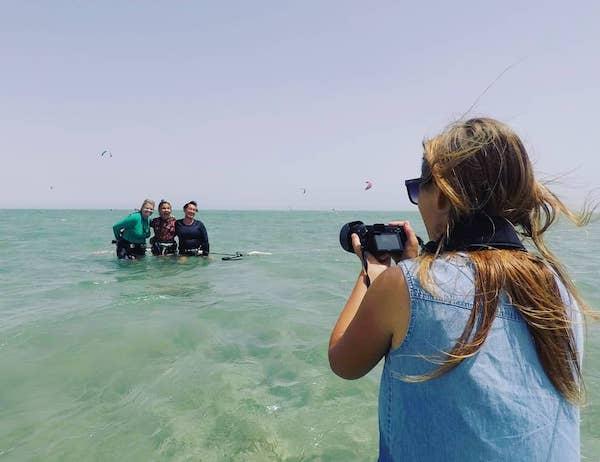 kitesurf photographer kite spot el gouna